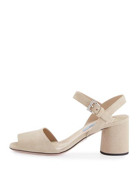 Suede Ankle-Strap 65mm Sandal