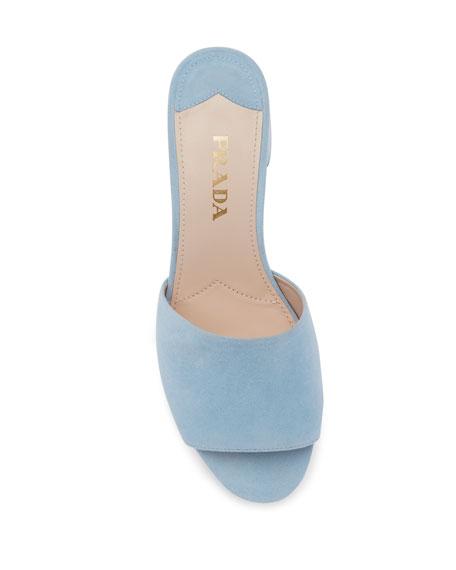 Suede Platform Mule Sandal