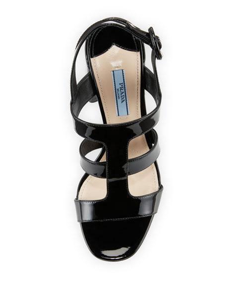 85mm Patent Caged Sandal