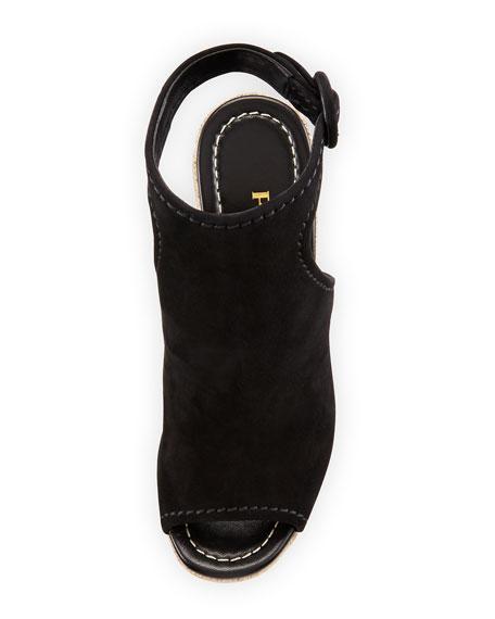 Suede 120mm Espadrille Wedge Sandal