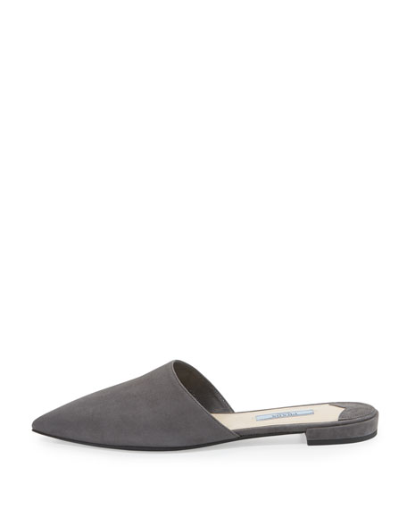Prada Suede Pointed-Toe Mules outlet under $60 clearance release dates cheap sale how much best place cheap price GdwP3A6A