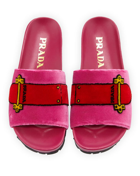 Velvet Slide Sandal