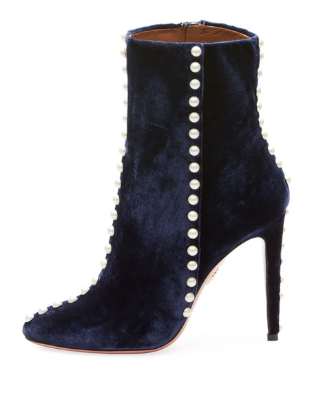 Folly Pearly Velvet Bootie