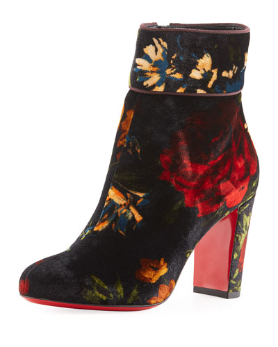 Moulamax Bouquet Velvet 85mm Red Sole Bootie