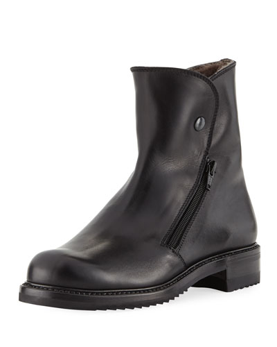 Fur-Lined Leather Boot