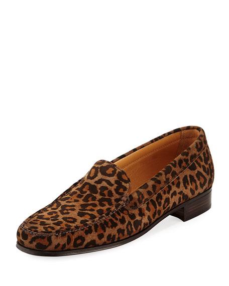 Leopard-Print Suede Loafer