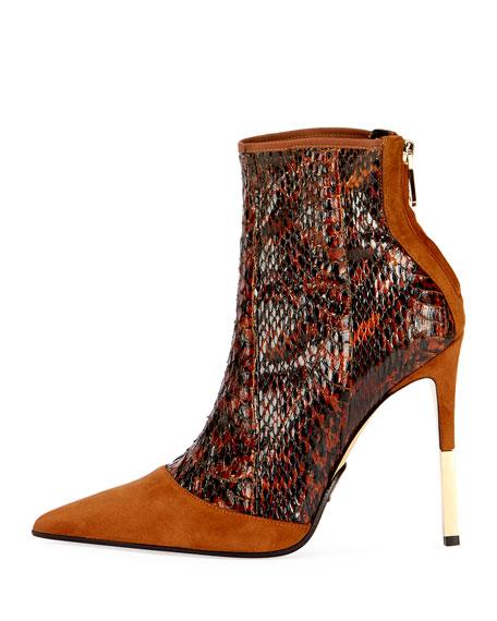 Blair Suede & Snakeskin Boot