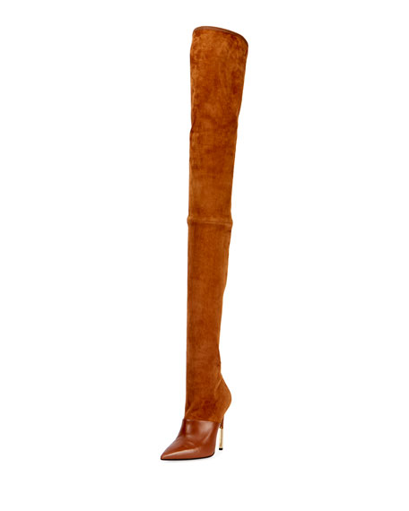 AMAZONE THIGH-HIGH SUEDE BOOT