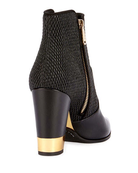 Anthea Matelasse Block-Heel Boot