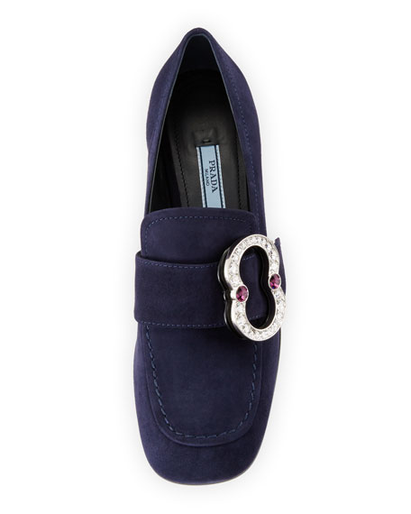 Patent Leather Jewel-Heel Loafer