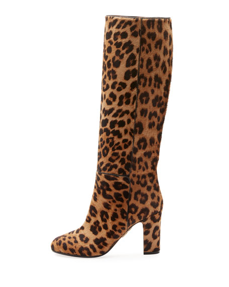 Brera Leopard-Print Calf Hair Boot