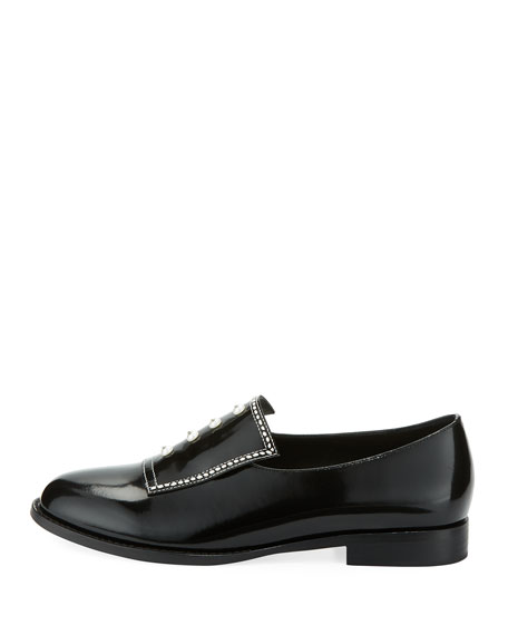 Leah Studded Patent Oxford