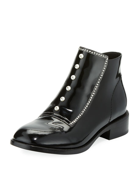 Ryder Studded Patent Boot