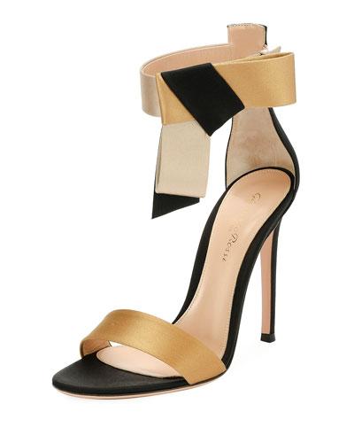 Bicolor Sandal Sandal,  Black/Gold