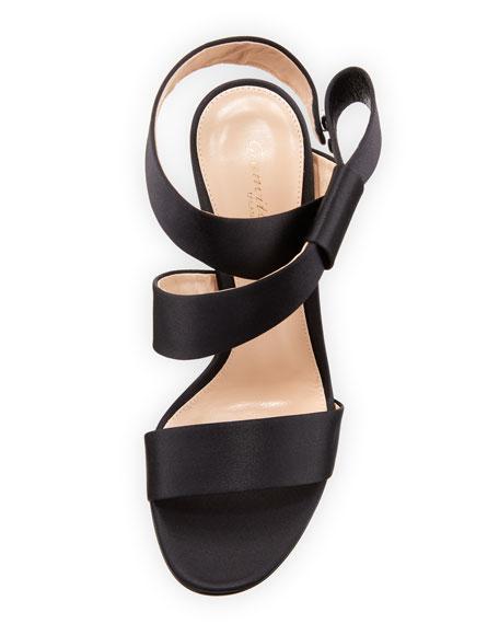 Rae Satin Ankle-Wrap 105mm Sandal