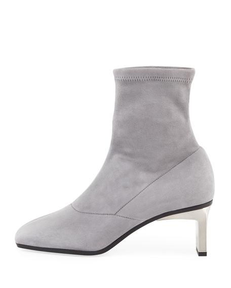 Suede Metallic-Heel Boot