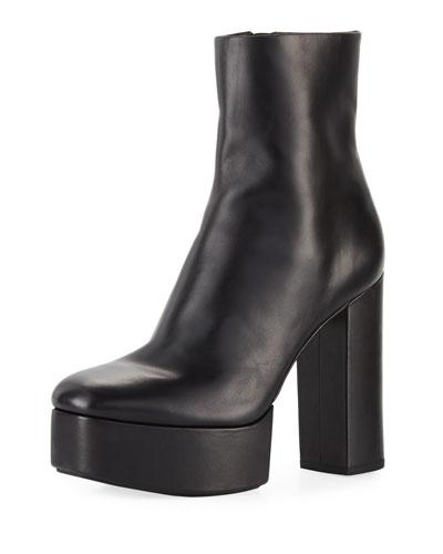 Cora Platform Leather 120mm Boot