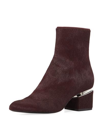 Jude Calf Hair Block-Heel Boot