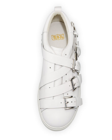 Premium Multi-Strap Leather Sneakers