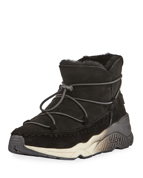 Mitsouko Shearling-Lined Sneaker