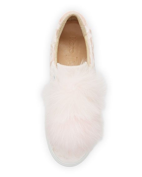 Emma Fox Fur Pompom Sneakers
