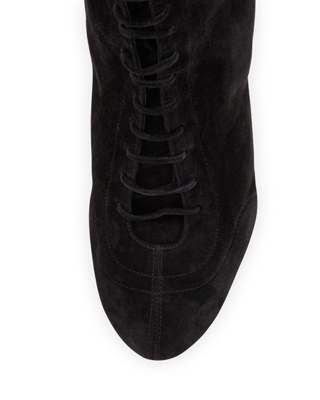 Daize Suede Lace-Up Bootie