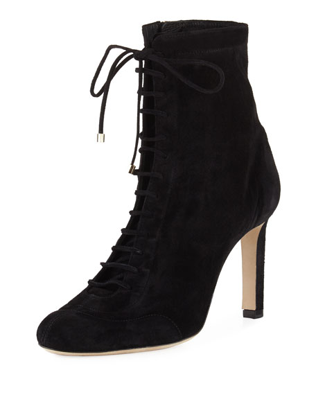 28b6994c975b7 Jimmy Choo Daize Suede Lace-Up Bootie