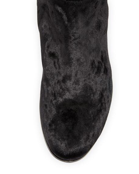 Myren Crushed Velvet Over-the-Knee Boot