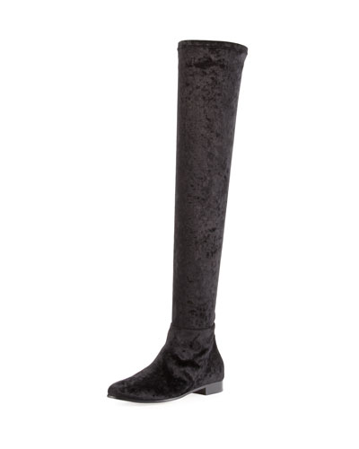 Myren Crushed Velvet Over-the-Knee Boot