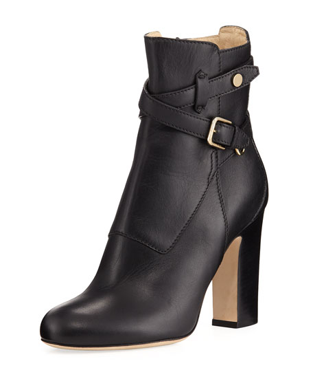 Mitchel Ankle-Strap Leather Boot