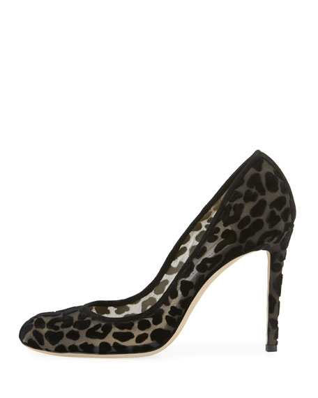 Bridget Leopard Devore Pump