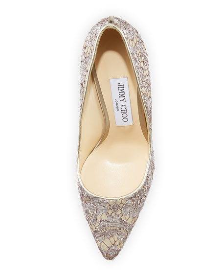 Romy 100mm Love Lace Pump