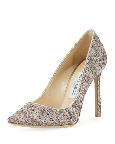 Romy Lace 100mm Pump