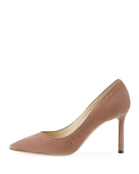 Romy 85mm Velvet Fabric Pumps