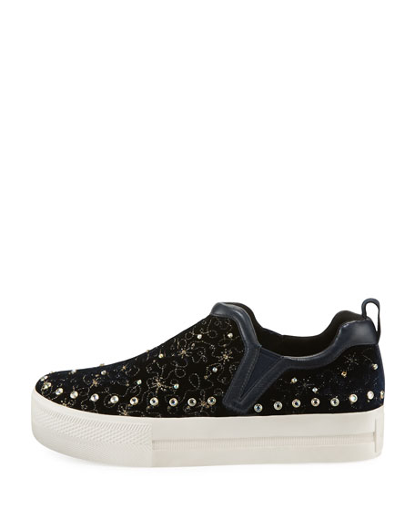 Jetset Beaded Platform Sneakers