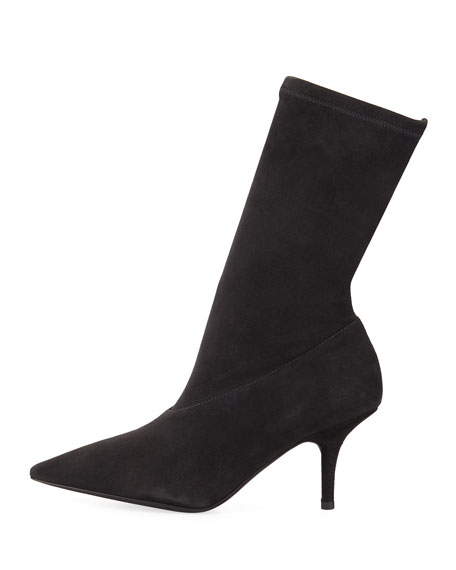 Stretch-Suede 70mm Bootie
