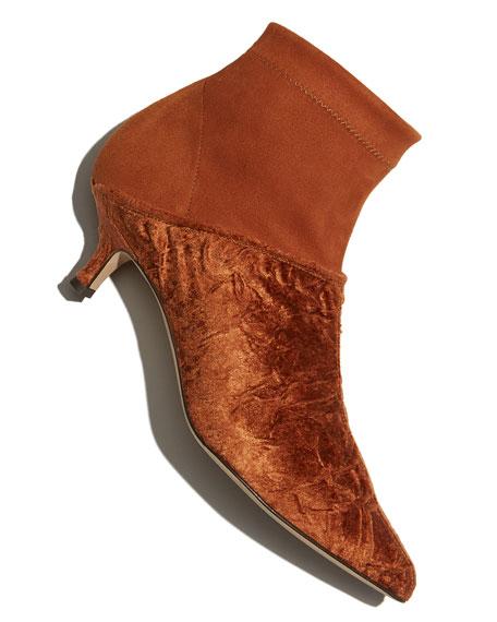 Jean Velvet Point-Toe Boots