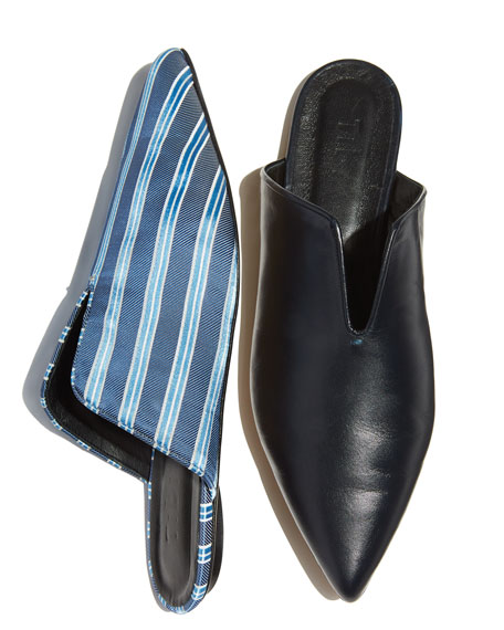 Cacey Striped Mule Slide