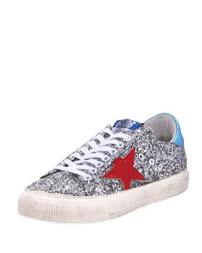 May Glitter Star Low-Top Sneaker