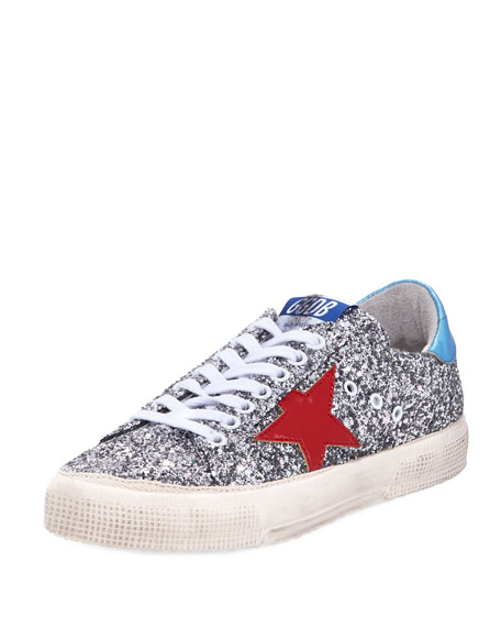 May Glitter Star Low-Top Sneaker