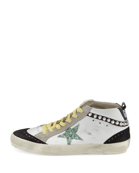 Brogue Leather Mid-Top Sneaker