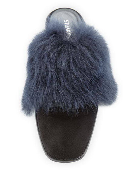 Furgett Fur-Lined Suede Mule