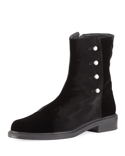 Behalf Pearly Fur-Lined Ankle Boot