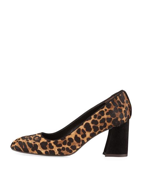 Pipemary Leopard-Print Fur Pump