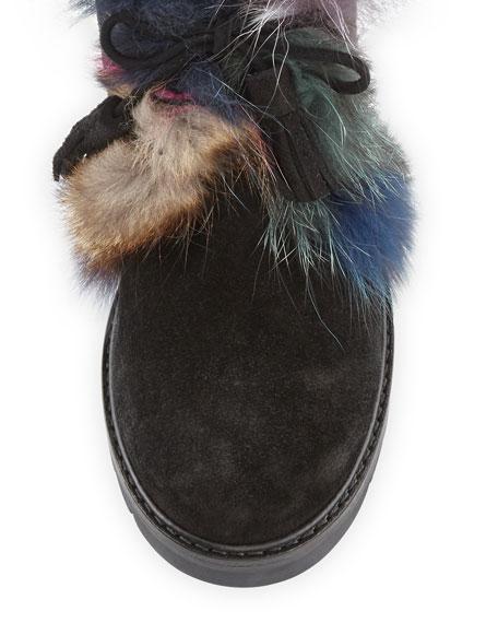 Furwalla Fur-Trim Hiker Boot