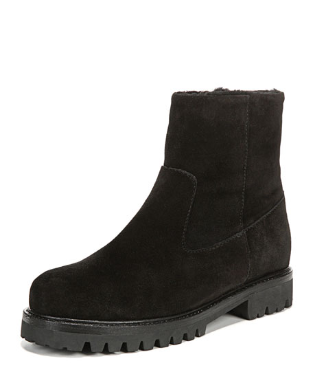 Frances Shearling-Lined Suede Boot