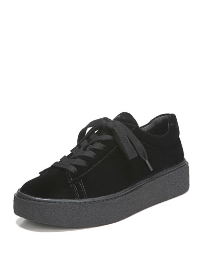 Neela Velvet Lace-Up Sneaker