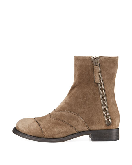 Lexie Suede Side-Zip Boot