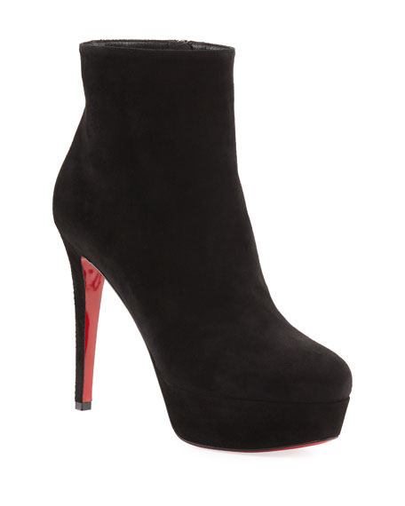 Bianca Suede Platform Red Sole Boot