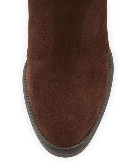 Caitlyn Fur-Trim Wedge Boot